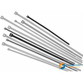 Хомуты кабельные 200 х 3 мм белые (упак 100шт)
