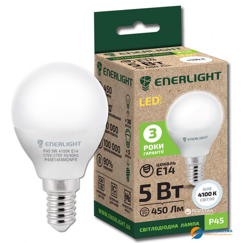 Лампа світлодіодна ENERLIGHT P45 7Вт 3000K E14